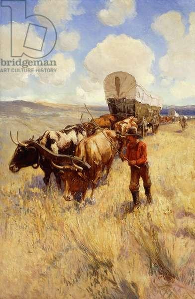 Wagon Train,  (oil on canvas)