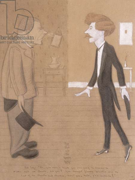The Old and the Young Self; Mr Walter Sickert, 1924 (pencil, watercolour and bodycolour heightened with white on buff)