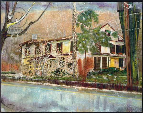 Pine House (Rooms for Rent), 1994 (oil on canvas)