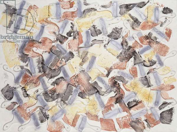 End October; Fin Octobre, c.1988-1989 (accumulation of brushes and oil on canvas)