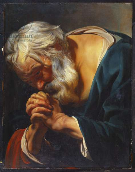 The Penitent St. Peter (oil on panel)