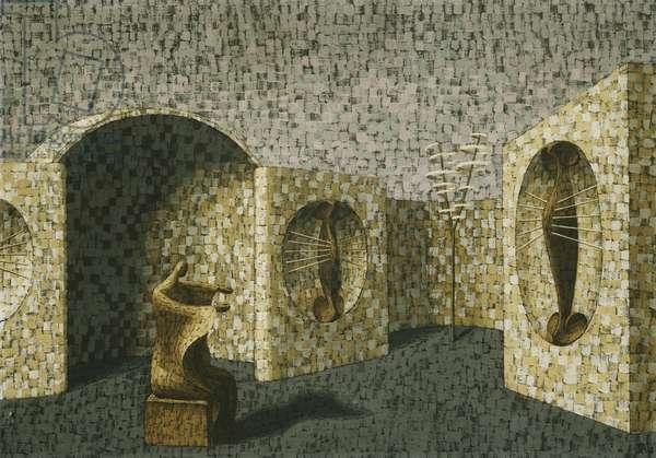 Garden of Contemplation, 1945 (gouache)