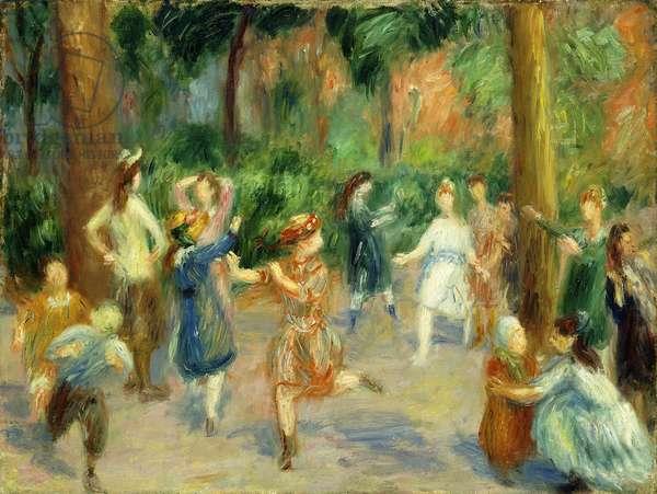 Children's Games,  (oil on canvas)