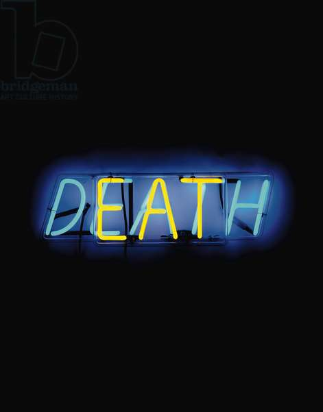 Eat Death, 1972 (neon tubing with clear glass tubing suspension frame)