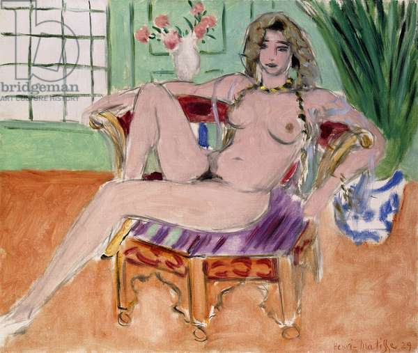 Sitting Odalisque, 1929 (oil on canvas)