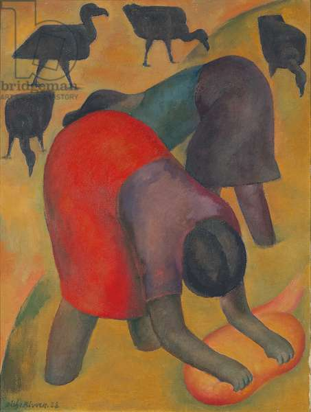 Washerwomen with buzzards, 1928 (oil on canvas)