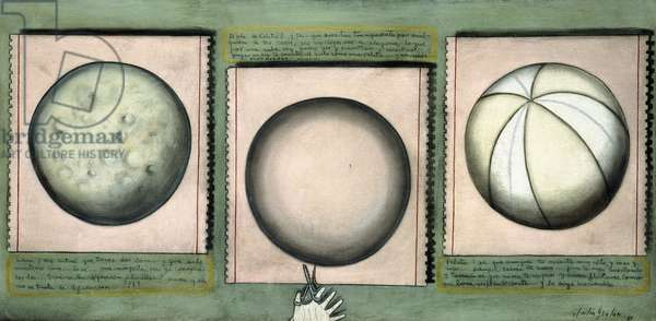 Luna, Crystal Ball and Ball, 1983 (oil and charcoal on canvas)