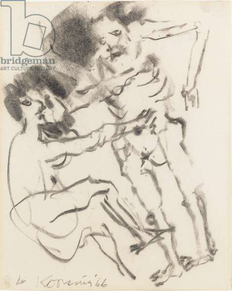 Untitled, 1966 (charcoal on paper)