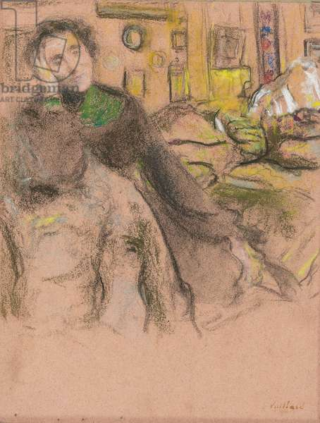 Madame Juliette Weil, study III, 1927-1928 (pastel on pink paper laid down on board)