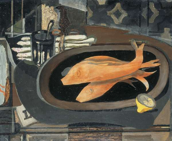 Still Life with Fish; Nature morte au poisson, c.1936 (oil on canvas)