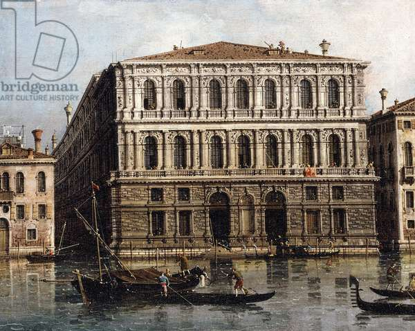 The Palazzo Pesaro from the Grand Canal, Venice,  (oil on canvas)