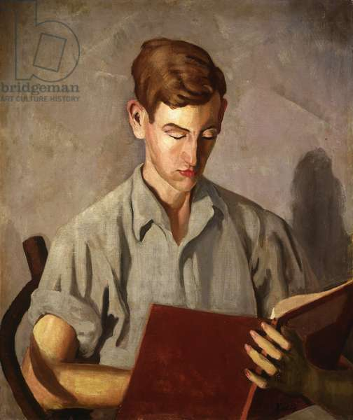 Young Boy Reading; Jeune Garcon Lisant, 1910 (oil on canvas)
