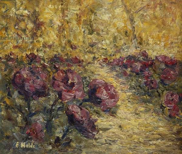 Small Rose Garden; Kleiner Rosengarten, 1903 (oil on board)