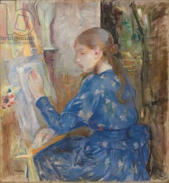 Young Girl Writing; Jeune Fille Ecrivant, 1891 (oil on canvas)