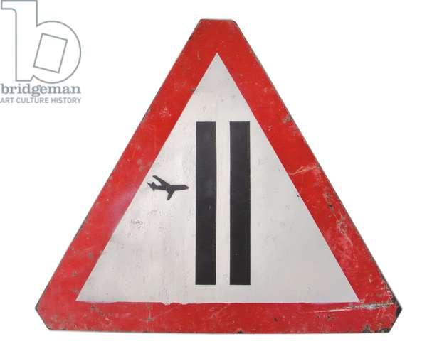 Warning Sign, 2006 (spray enamel on composite plastic)