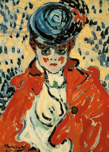 Portrait of a woman at the Rat Mort, c.1905-06 (oil on board)