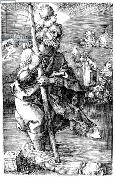 St. Christopher facing right, 1521 (engraving)