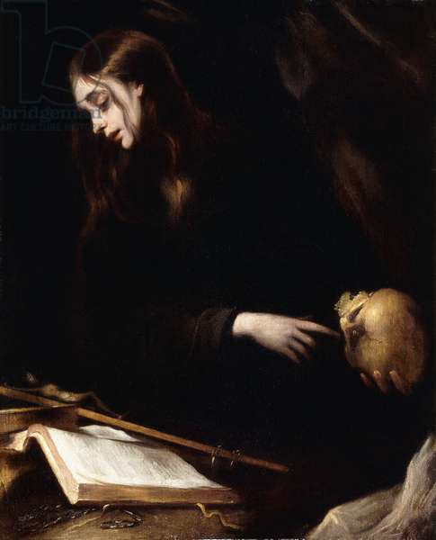 The Penitent Magdalen,  (oil on canvas)