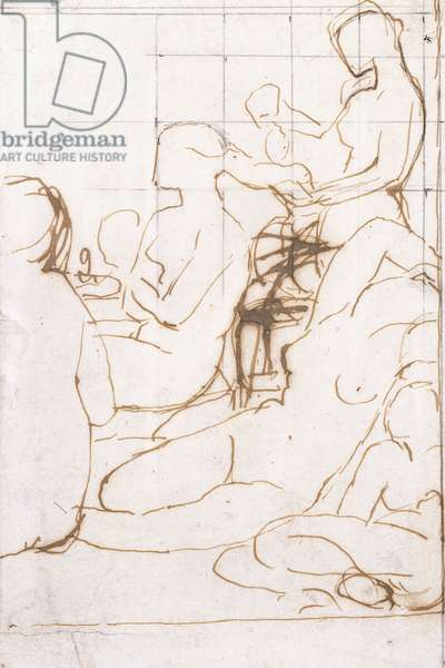 Study for The Turkish Bath,  (black lead, pen and brown ink on paper)