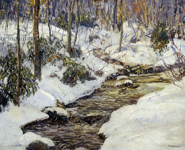 Winter Landscape,  (oil on canvas)