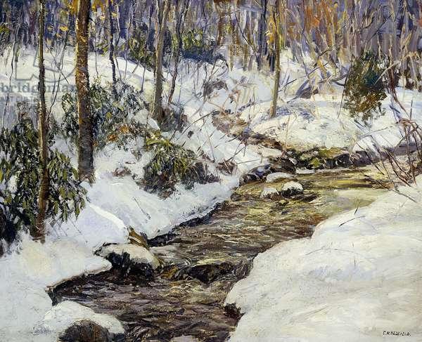 Winter Landscape,  (oil on canvas)
