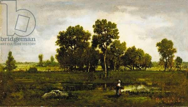 Fagotière près de la mare aux vipères, 1862 (oil on panel)