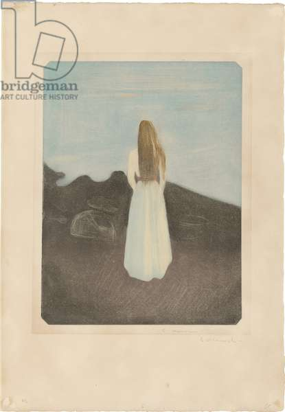 Young Woman on the Beach, 1896 (colour aquatint & drypoint with burnishing)