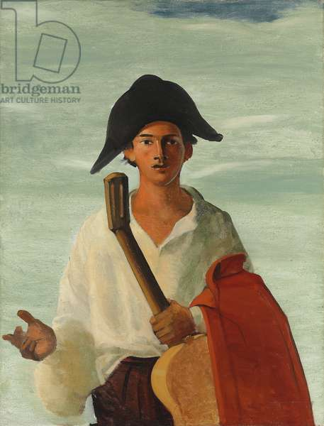 Harlequin holding a guitar, c.1930 (oil on canvas)