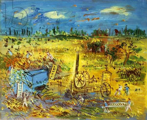 La Moisson, (oil on canvas)