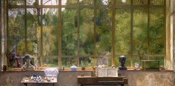 Studio Window, 1963 (oil on board)