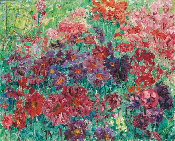 Violet Flowers; Violette Blumen, 1907 (oil on canvas)