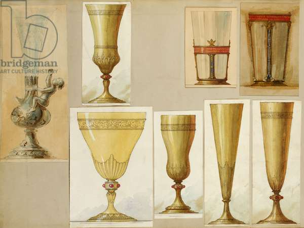 Selection of designs, House of Carl Faberge (pencil & w/c on paper)