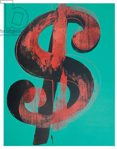 Dollar Sign, 1981 (synthetic polymer paint and silkscreen inks on canvas)