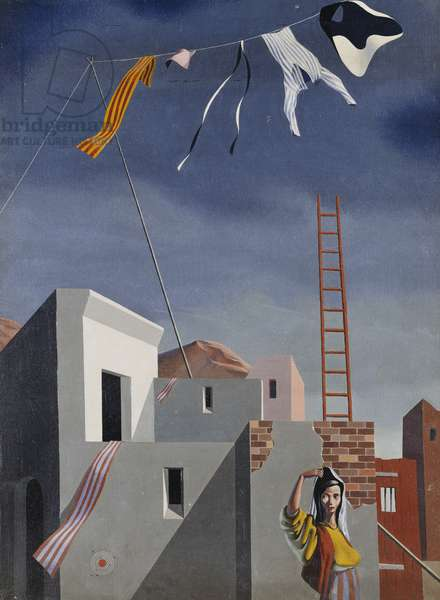 The Washing Line, 1939 (oil on canvas)
