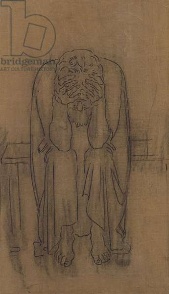 Dark Genius, 1891/92 (pencil over paper on canvas)