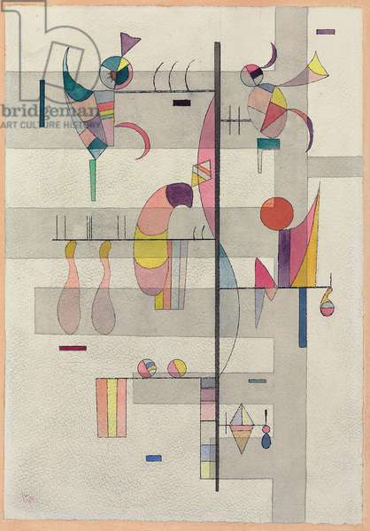Distribution, 1934 (watercolour, pen, ink and pencil on paper)
