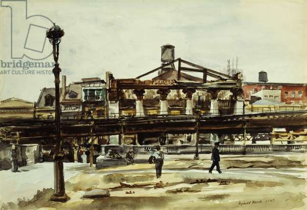 The El, 1929 (watercolour and pencil on paper)