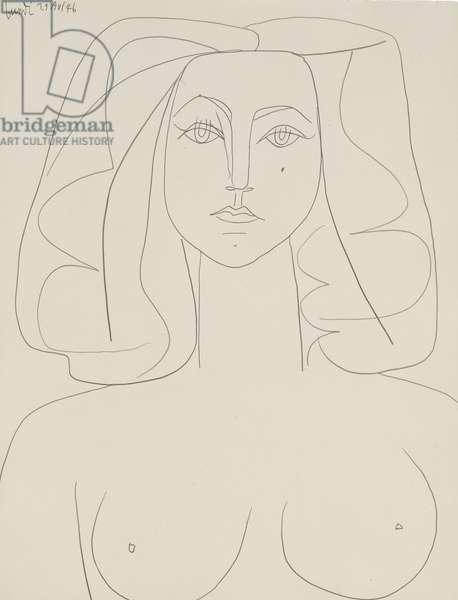 Portrait of a Woman; Portrait de Femme, 1946 (pencil on paper)