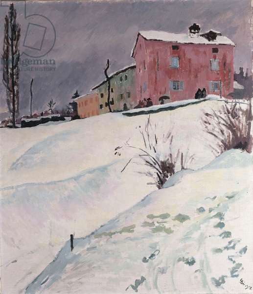 The Red House, 1912 (oil on canvas)