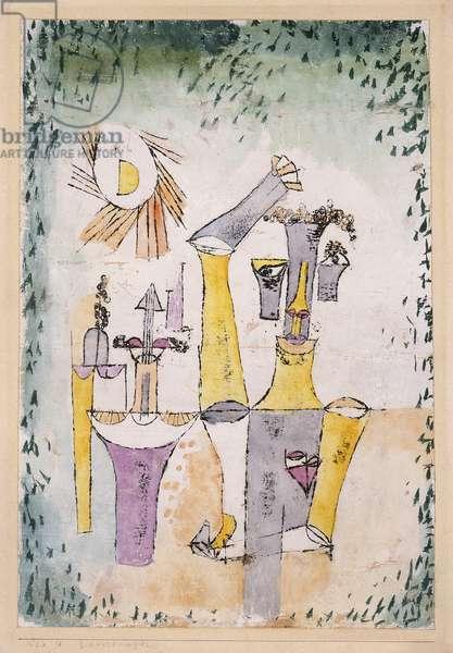Black Magic; Schwarzmagier, 1920 (watercolour over oil transfer on chalk-primed paper)