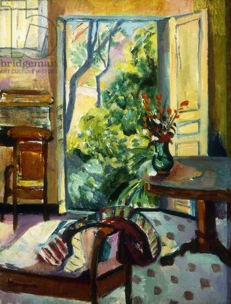 The Studio at l'Oustalet; l'Atelier de l'Oustalet, (oil on canvas)
