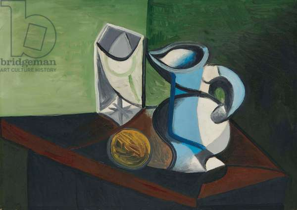 Glass and pitcher, 1944 (oil on canvas)