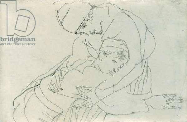 Embrace, 1914 (pencil on paper)