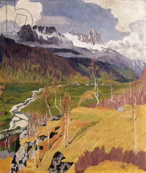 Autumn Landscape; Herbstlandschaft, 1903 (oil on cardboard)