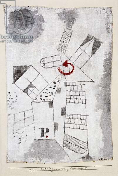 Dynamization of Houses P.; Dynamisiering des Hauses P, 1921 (gouache, watercolour and white ground on gauze)