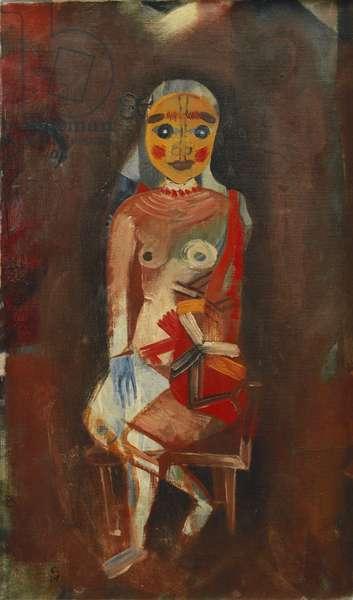 Seated Woman; Sitzende Frau, 1921 (oil on canvas)