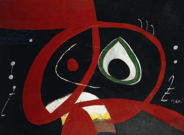 Head; Tete, 1976 (oil on canvas)