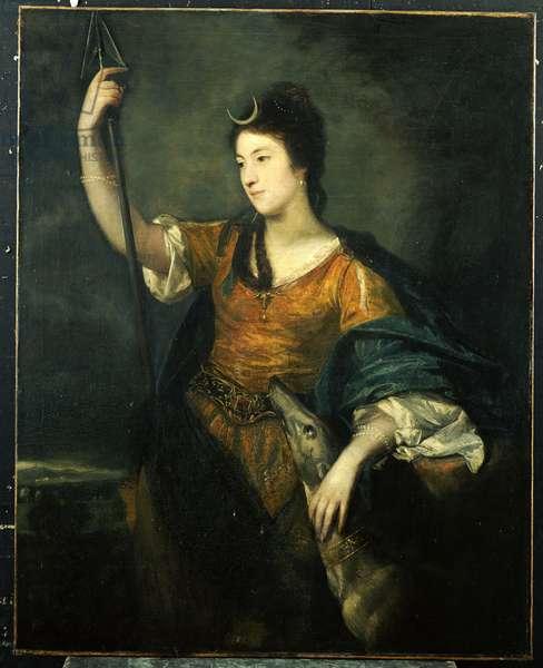 Portrait of Lady Anne Dawson, three-quarter length, as Diana, 1753-54 (oil on canvas)