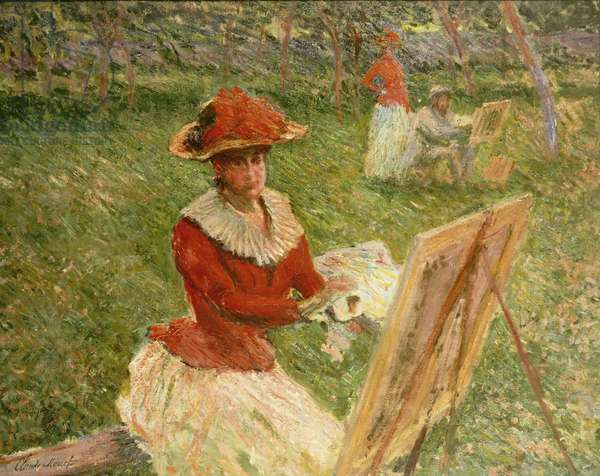 Blanche Hoschede Painting, 1892 (oil on canvas)