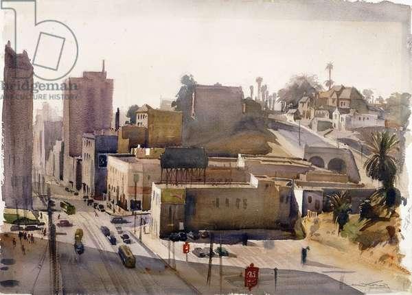 Los Angeles, 1940, 1940 (w/c & pencil on paper)